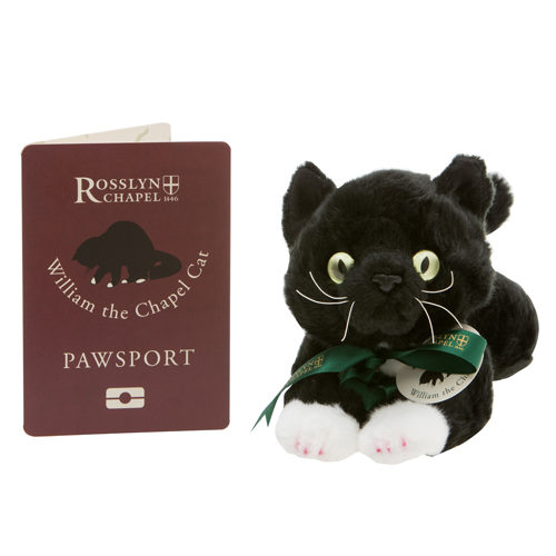 Rosslyn-Chapel-William-the-Chapel-Cat-Soft-Toy-with-Pawsport