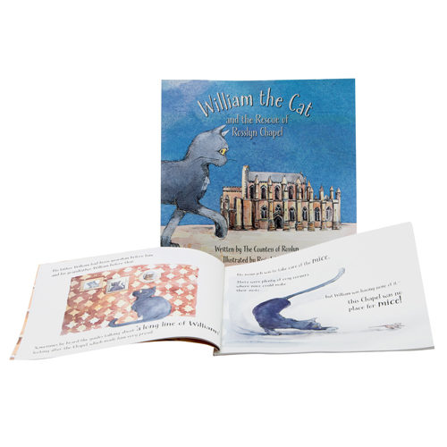 Rosslyn-Chapel-William-the-Chapel-Cat-Story-Book-Opened