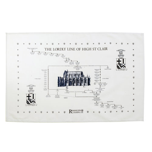 Rosslyn-Chapel-Lordly-Line-High-St-Clair-Tea-Towel-White-Blue