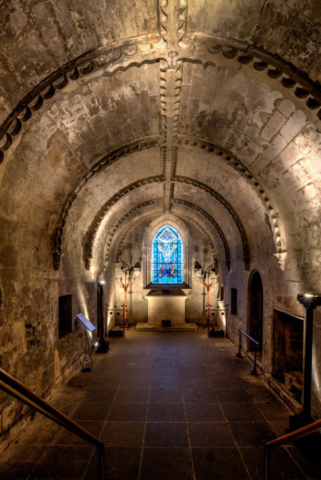 new lights for oldest part of chapel the official rosslyn chapel