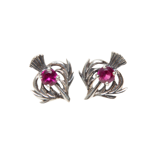 July Birthstone Scottish Thistle Earrings Toucan