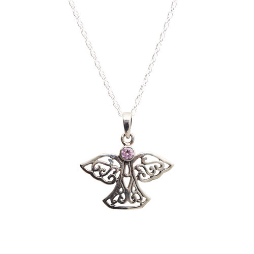 Celtic angel pendant large the official rosslyn chapel website celtic angel pendant aloadofball Choice Image