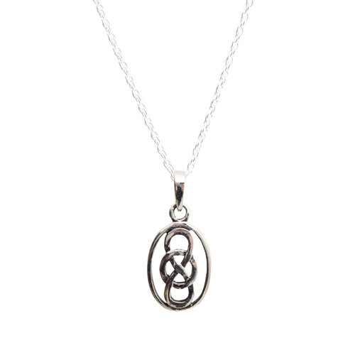 celtic gold pendant irish knot trinity