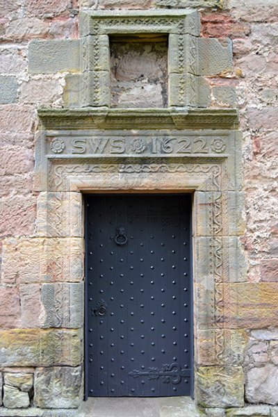 Sir William St Clair's door at Rosslyn Castle - 1622