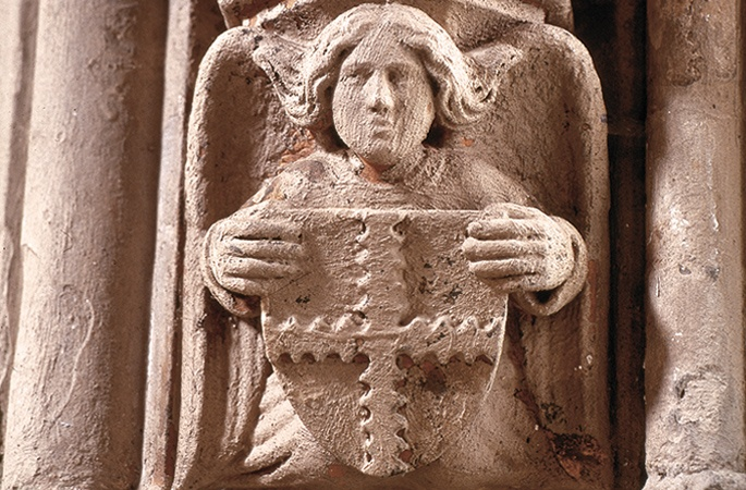 Angel with engrailed cross, Rosslyn Chapel