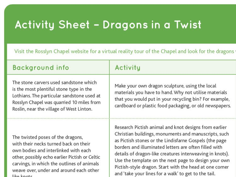 Dragons in a Twist activity ideas