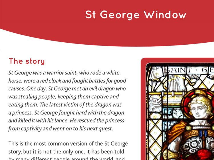 St George and the Dragon window fact sheet