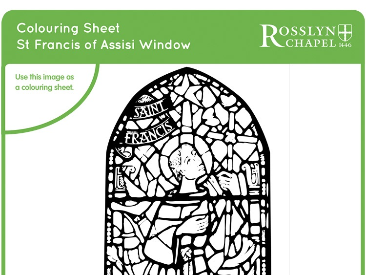 St Francis of Assisi window - Colouring Sheet [PDF]
