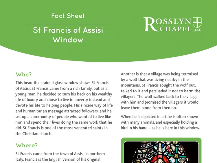 St Francis of Assisi window - Fact Sheet [PDF]