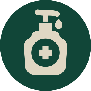 Hand sanitiser stations available
