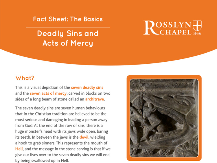 Seven Deadly Sins and Acts of Mercy Fact Sheet