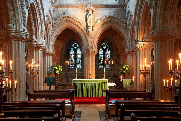 Rosslyn Chapel Interior by Candelight